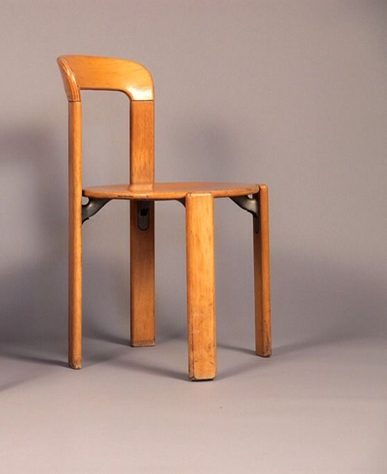 Chaise Vintage Bruno Rey Chair 1971 Dietiker Switzerland No Aalto Mobilier Minimaliste Chaises Bois Mobilier Ancien