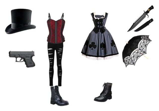 """""""evil mad hatter and Alice"""" by jadziahblackman on Polyvore featuring Reneeze"""