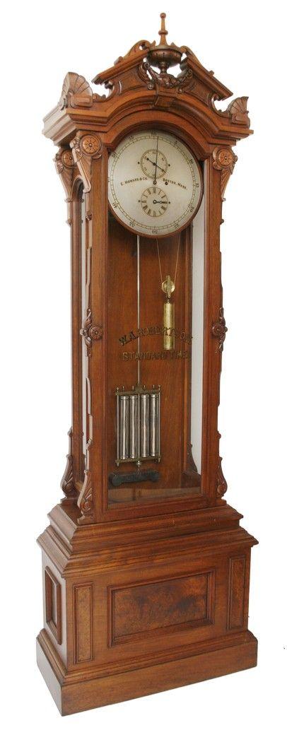 Rare And Fine E Howard Company Floor Standing Astronomical Regulator Grandfather Clock Vintage Clock Antiques