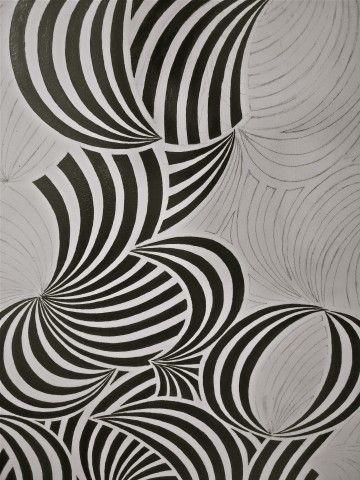 Luli Sanchez Op Art. Develop curled paper drawings into pattern then monoprint?