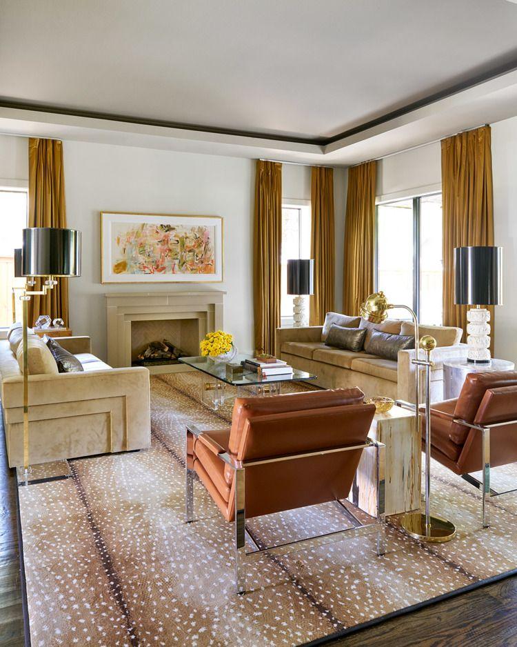 Home Tour: Wallpaper Wonderful In Dallas. Living Room DecorLiving SpacesFormal  ...