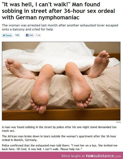 Cant walk after sex