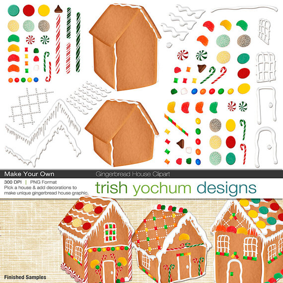 christmas clipart christmas gingerbread house digital clipart rh pinterest co uk how to make your own clipart how to make your own clipart in powerpoint