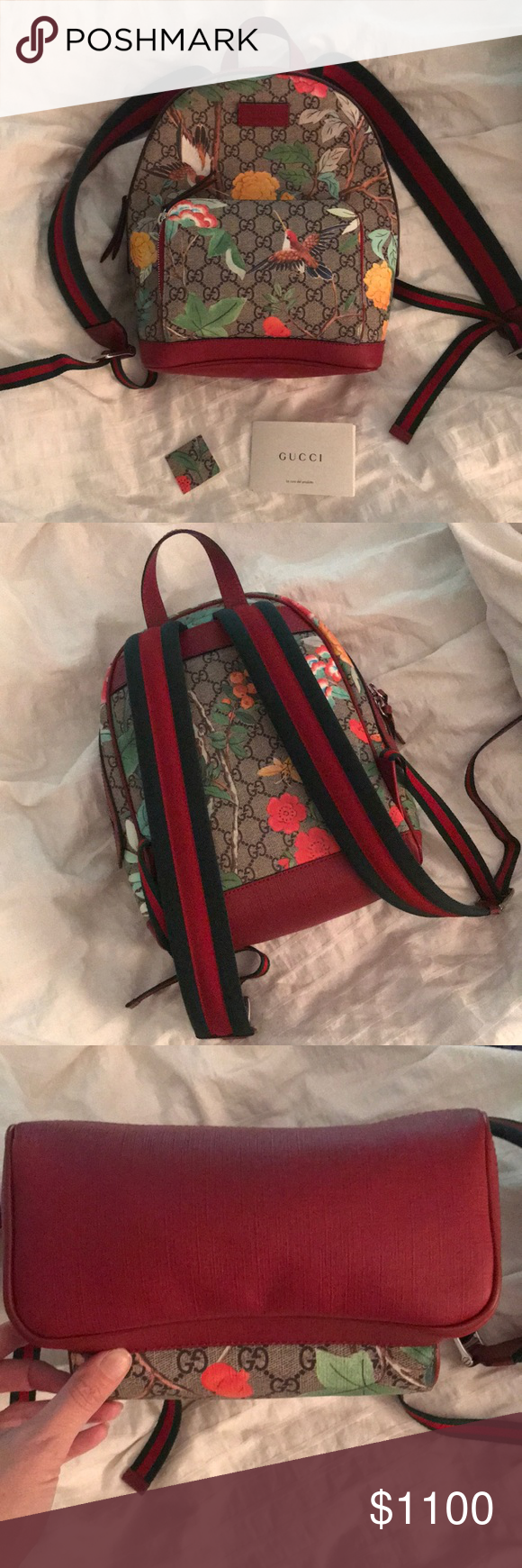 3e298810497 Gucci Tian GG Supreme Backpack Style 427042 K0LCN 8722 A small sized  backpack with leather