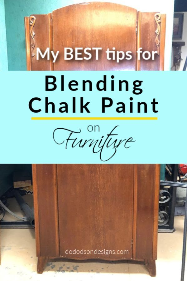 You won't believe how blending chalk paint completely changed this armoire. The before and after is unbelievable. Layering colors changes everything on painted furniture. Get all my best tips for this beautiful technique on the blog.   #dododsondesigns #blendingchalkpaint #chalkpaintedfurniture #paintedfurniture #furniturepainting