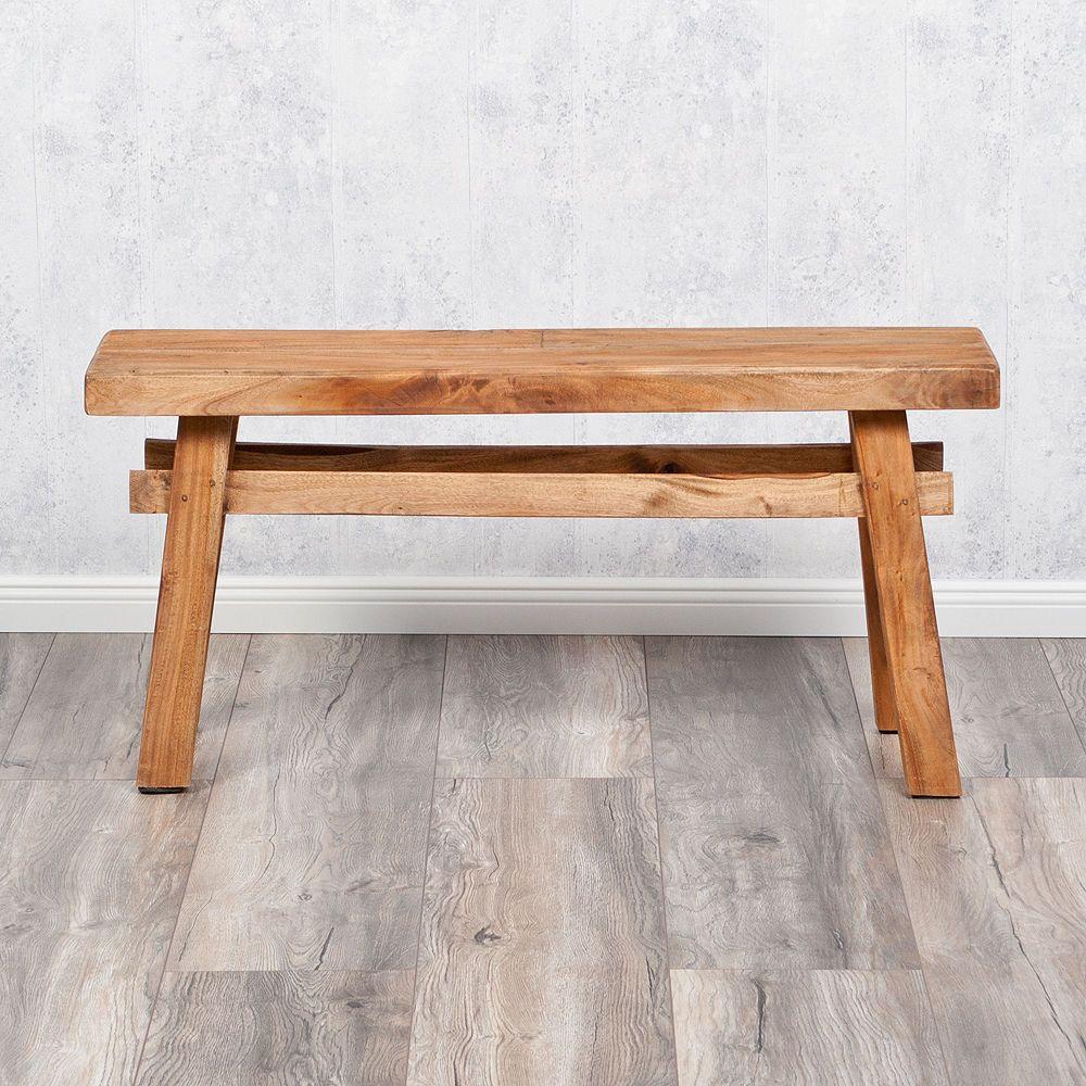 Perfekt Shabby Chic Holzbank Massivholz Bank INDO Hocker Tisch Holz Sitzbank 100cm  In Möbel U0026 Wohnen,