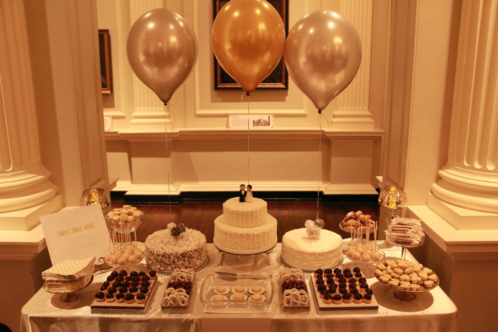Silver and Gold Sweet Table | Sweet Table Chicago: Designer Dessert ...
