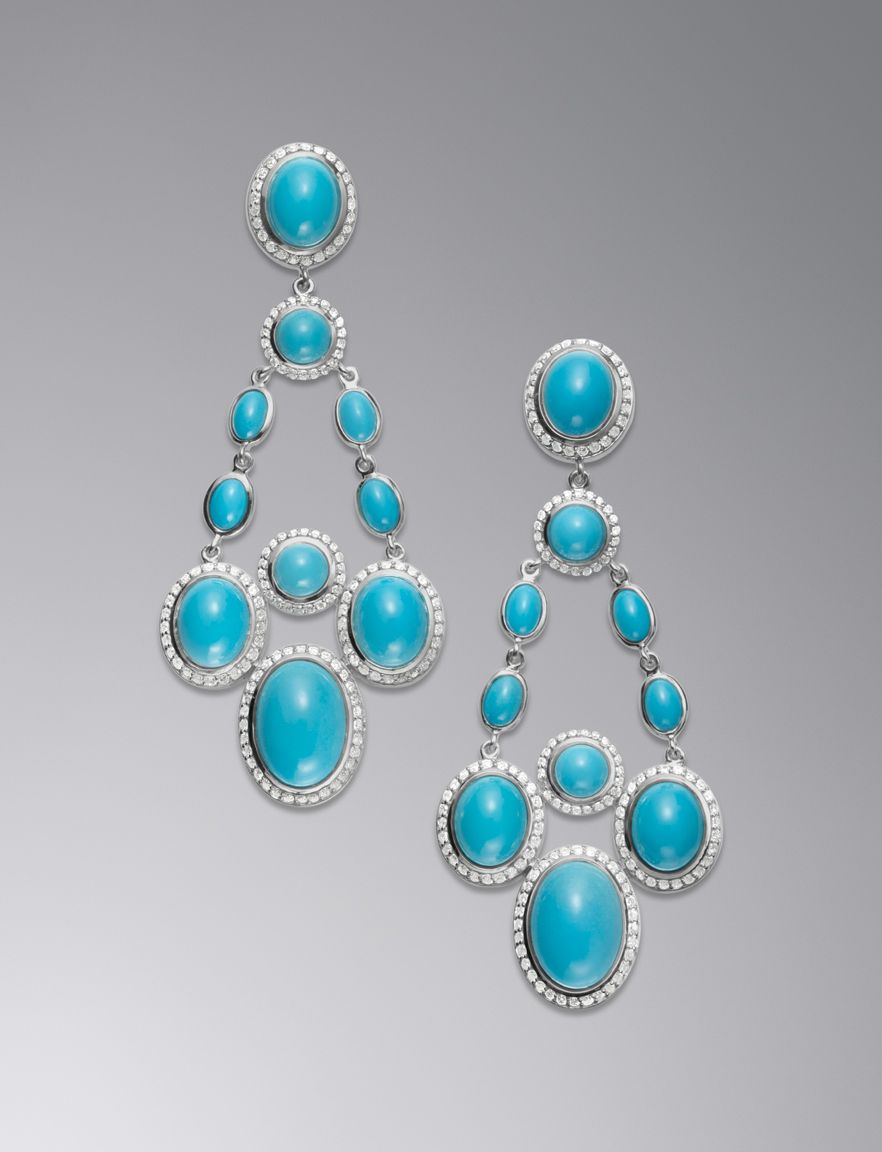 David Yurman Chandelier Earrings, Turquoise