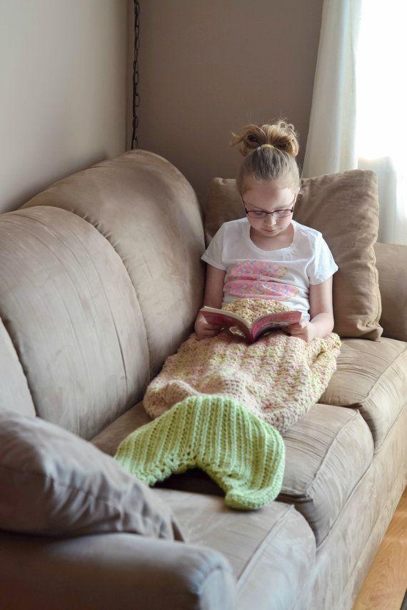 Crochet Pattern for Mermaid Tail Blanket - DIY Tutorial to make it ...