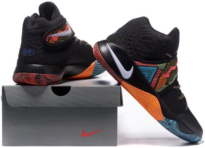 5290e91a522d Kyrie 2 BHM Black Orange Red White Blue1