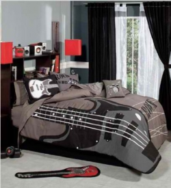 A Rock U0027nu0027 Roll Bedroom Or Guitar Themed Bedroom Is An Awesome Bedroom Decor