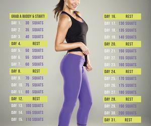 squats | plank | Workout challenge, 30 day squat challenge