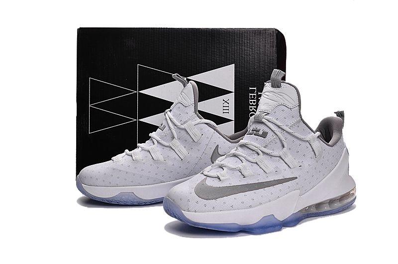 reputable site 6a713 e4245 Nike Lebron 13 Low Men Shoe White Silver | Nike Lebron 13 ...