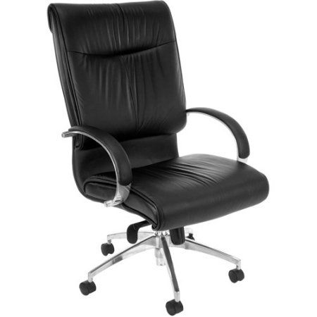 OFM High-Back Executive Leather Chair, Black