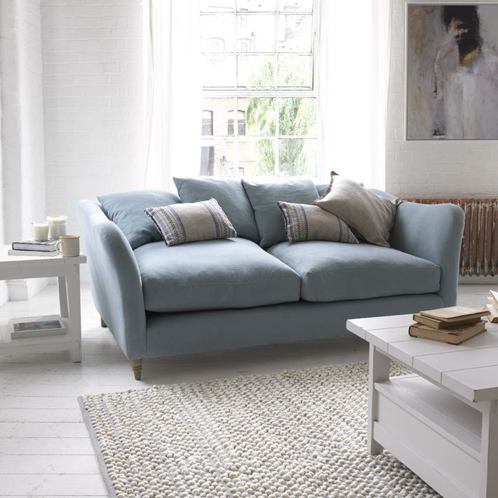 Powder Blue Sofa Sc Dream House In 2019 Sofa Fabric Sofa Sofa Bed