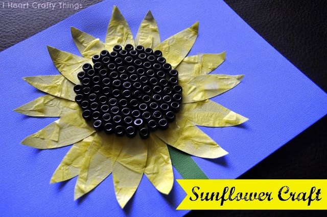 Sunflower Craft  - Pinned by @PediaStaff – Please Visit  ht.ly/63sNt for all our pediatric therapy pins