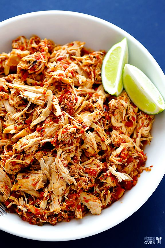 2 ingredient slow cooker salsa chicken recipe slow for Easy healthy chicken crockpot recipes