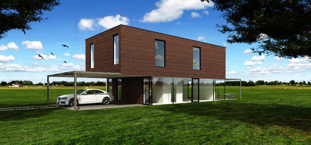 "Cubic Haus cubic"" - modernes, elegantes typenhaus- fertighaus der firma pichler"