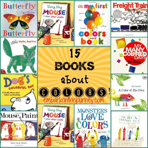 15 books to use when teaching your preschool kiddos about colors embarkonthejourneycom - Color Books For Kindergarten
