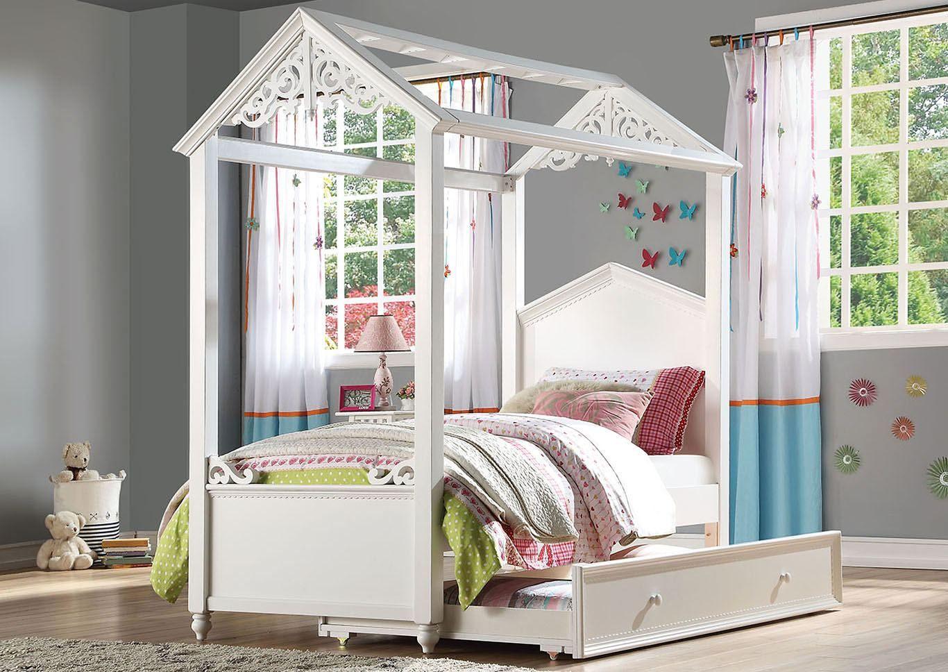 Rapunzel Bedroom Furniture Twin canopy bed, Furniture
