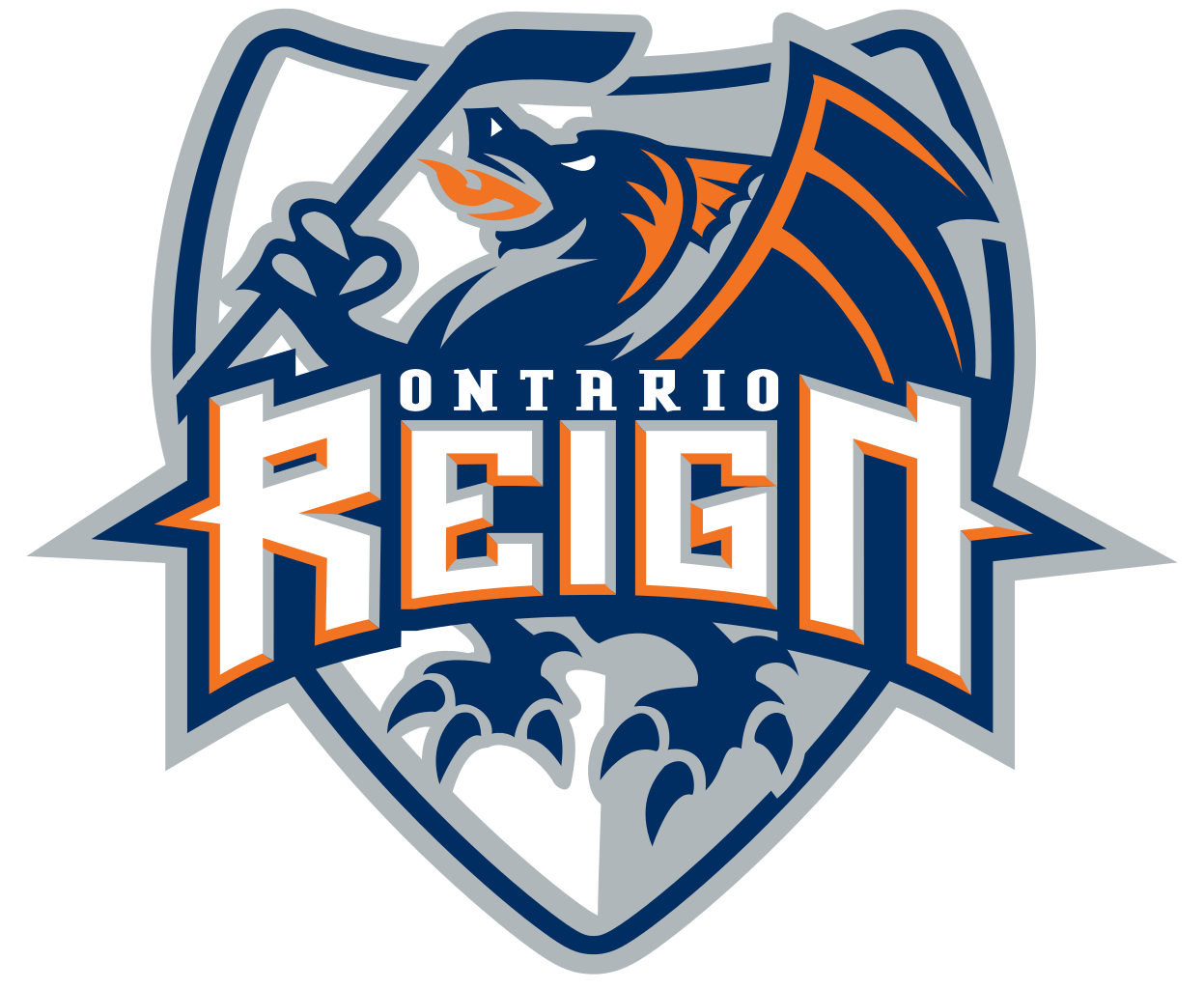 Old logo of the Ontario Reign, minor league hockey