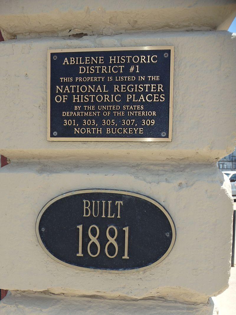 Kansas dickinson county abilene - Abilene Historic District No 1 In Dickinson County Kansas