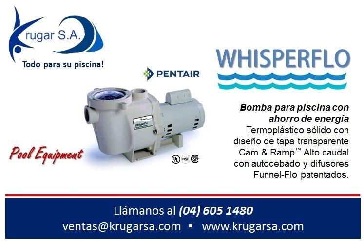 bomba whisperflo de pentair pool bomba para piscina con ahorro de