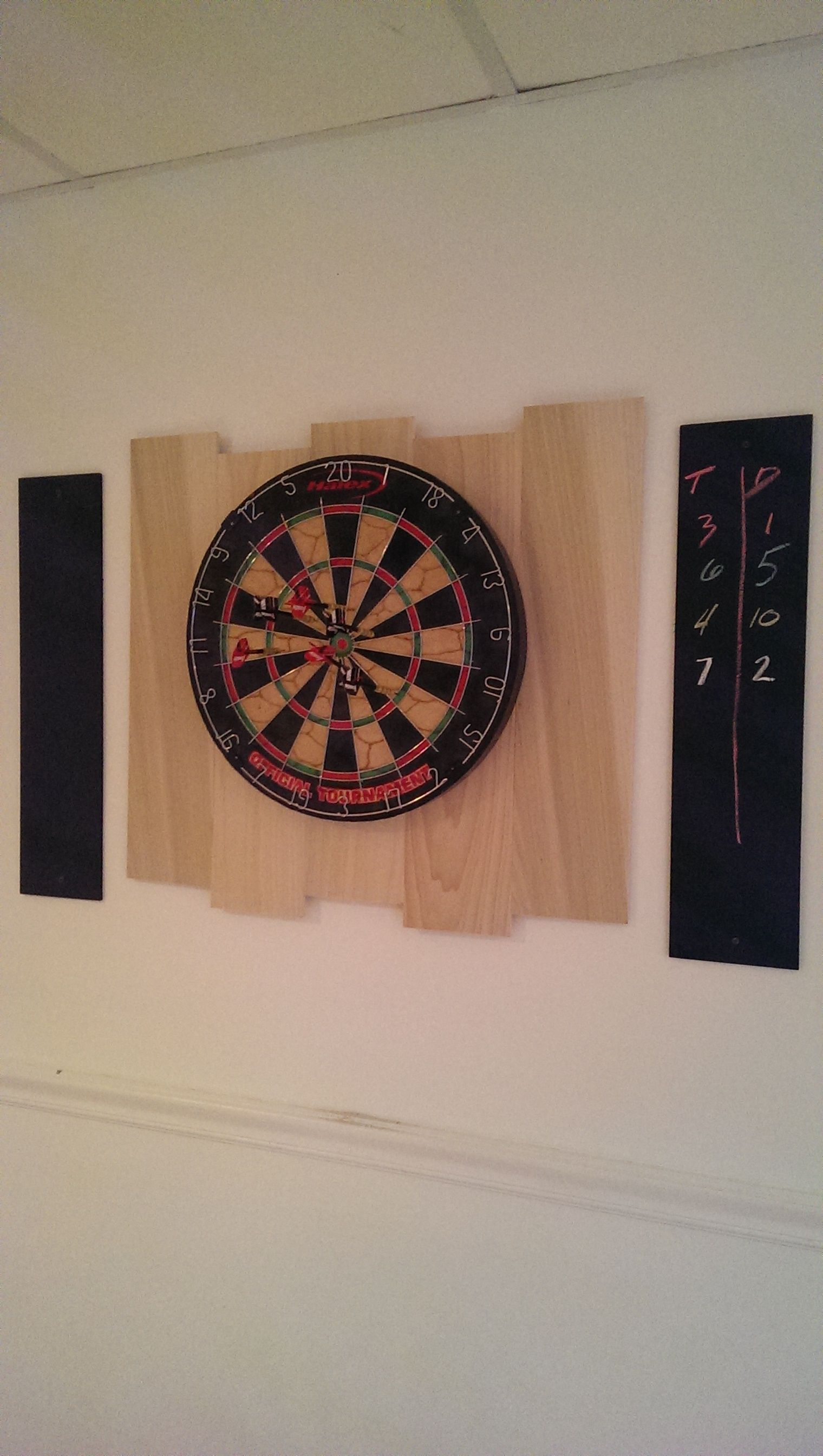 homemade dart board backing and scoreboard man cave pinterest