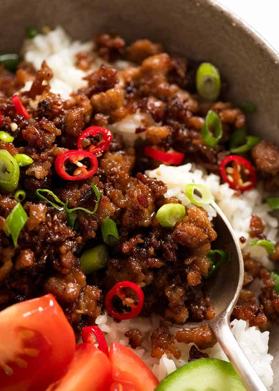Vietnamese Caramelised Pork Bowls Recipe Ground Pork Recipes Pork Mince Recipes Pork Dishes