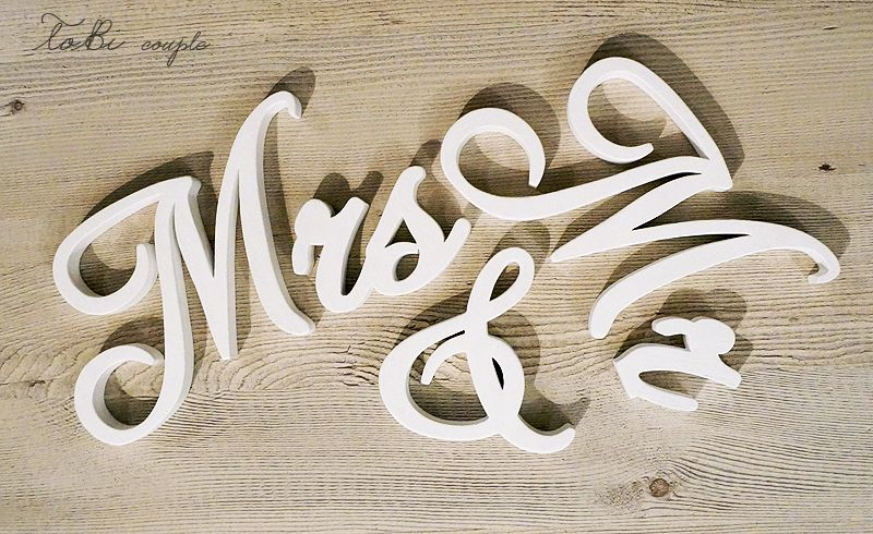 Wedding Sign Mr Mrs Wooden Letters Table Decor Wedding Gift