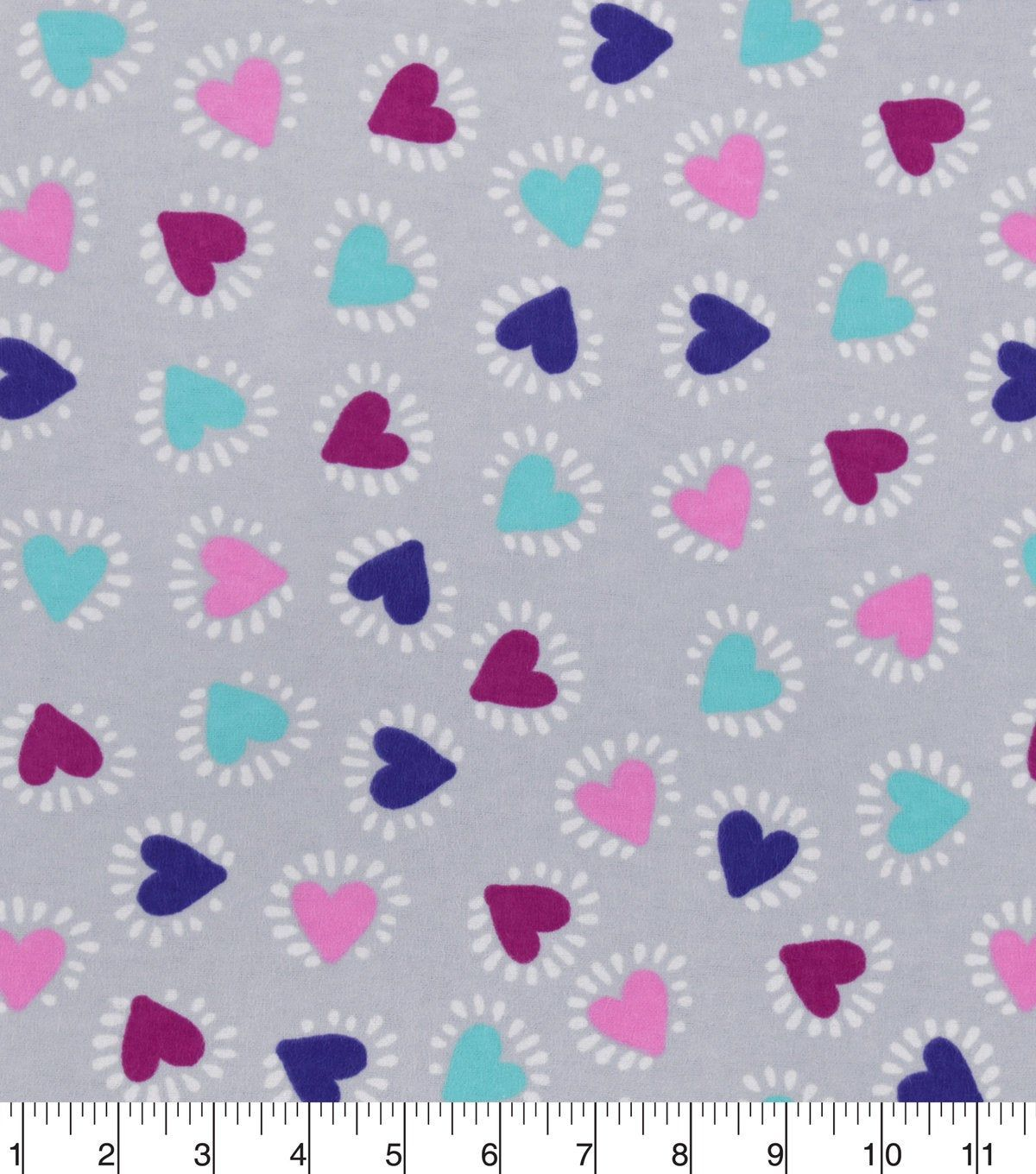 Heart Bursts Fabric By The Yard 100 Cotton Flannel Fabric Only Additional Length Options Available Cotton Flannel Fabric Paper Crafts