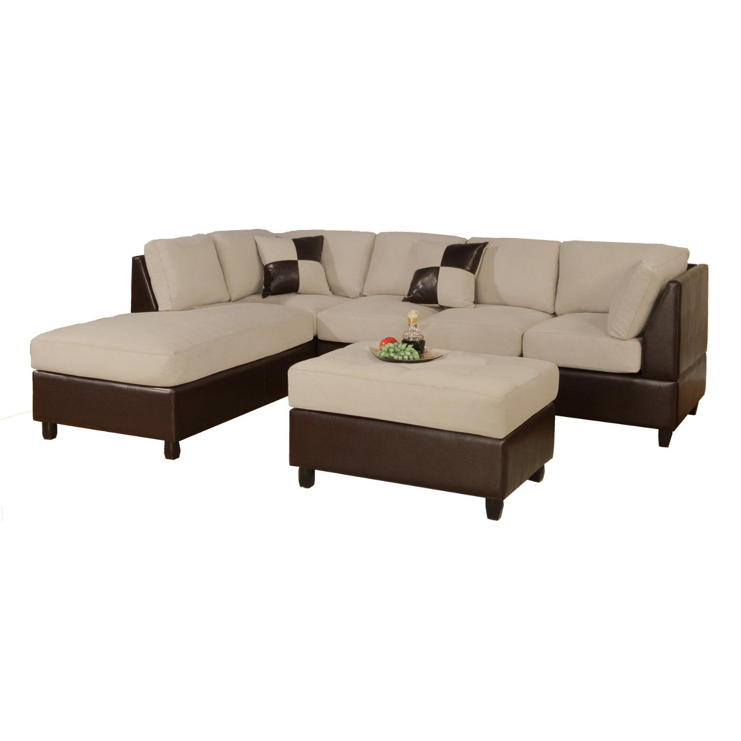 Best If We Get Separate Recliners 3 Piece Sectional Sofa Sectional Sofa Couch Faux Leather 640 x 480