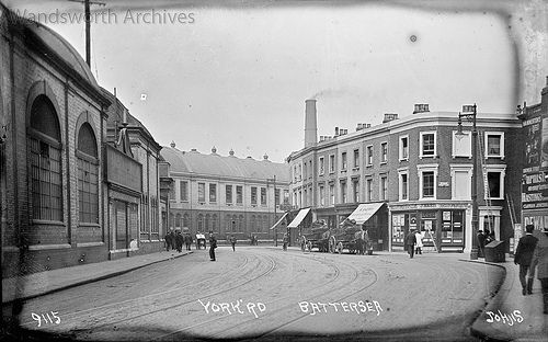 York Road Battersea C 1914 J9115 Showing Junction With In