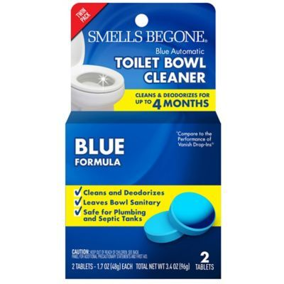 Smells Begone 2 Pack Toilet Tabs Blue Toilet Household Cleaning Supplies Cleaning