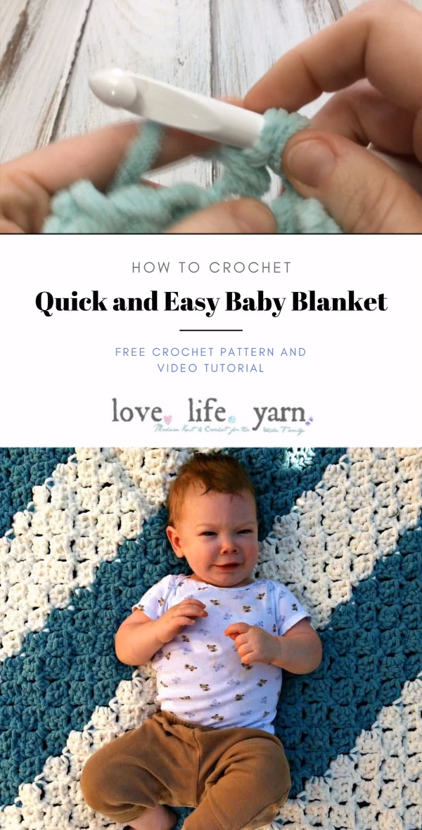 Photo of Quick and Easy Baby Blanket – Free Crochet Pattern