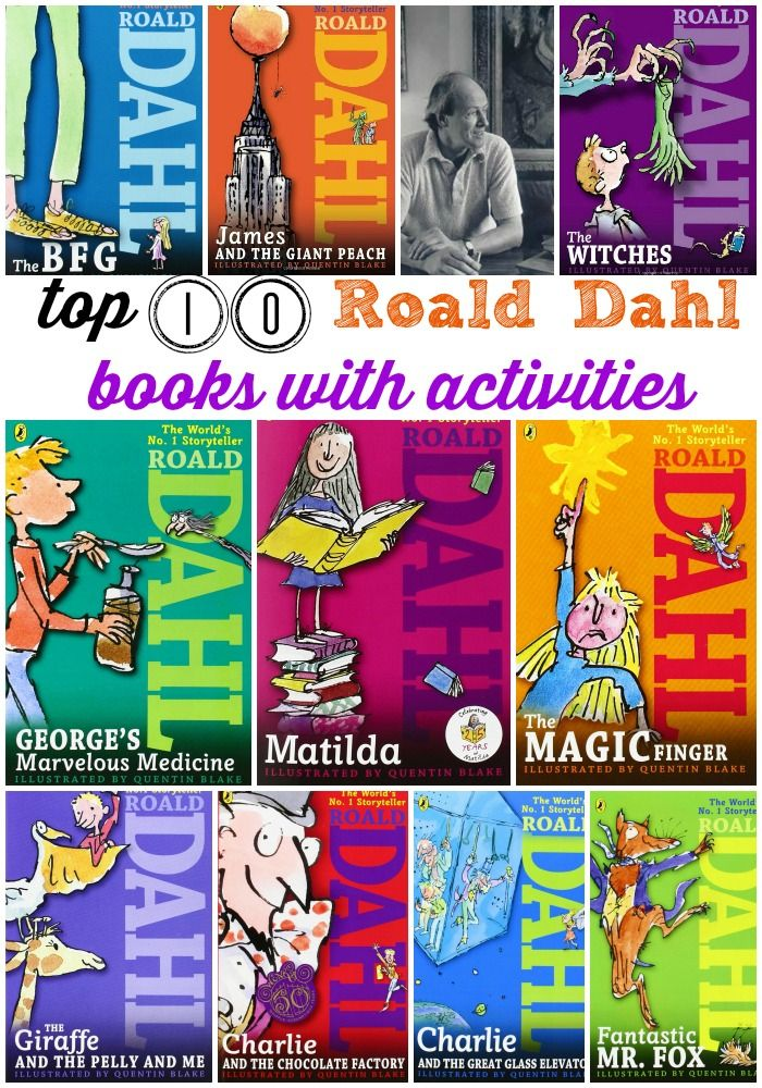 Top 10 Roald Dahl books for kids with go-along activities.