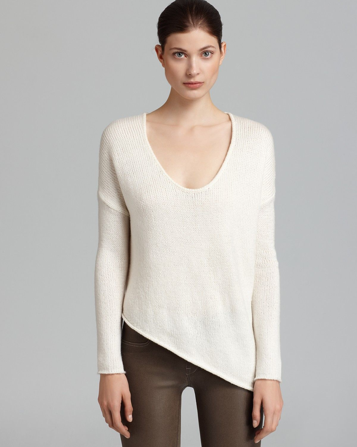 HELMUT by Helmut Lang Sweater - Asymmetric Hem Soft Pullover | Bloomingdale's
