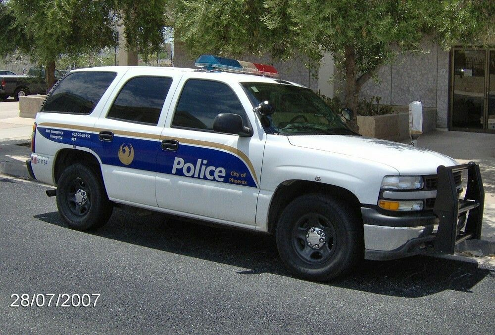City Of Phoenix Az Police Chevy Tahoe Chevy Tahoe Chevrolet Tahoe Police Cars