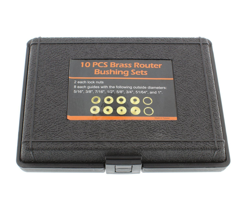 DCT Brass Router Template Guides Bushing 8Piece Set & 2