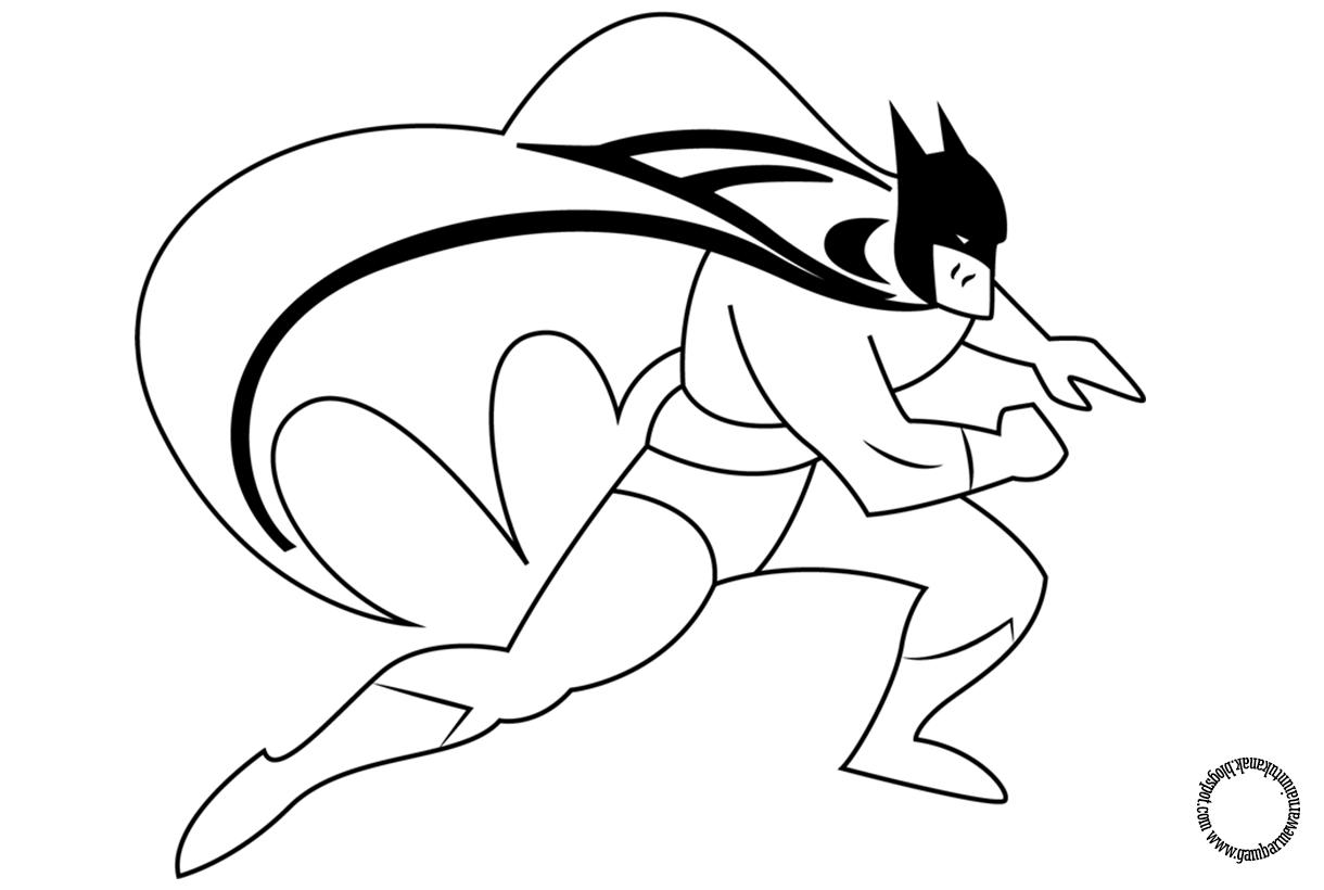 Gambar Untuk Mewarnai Batman