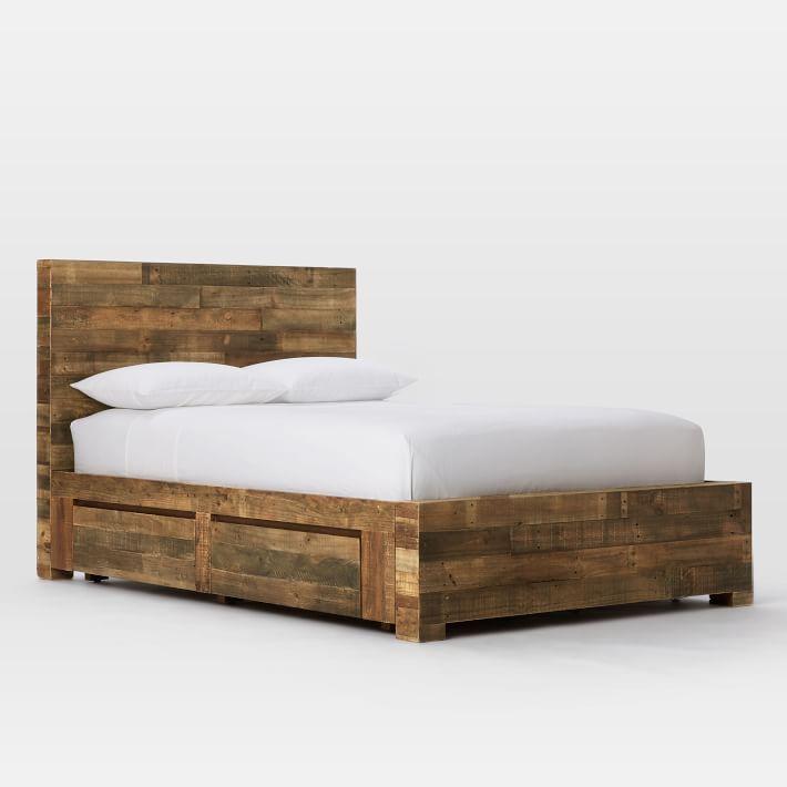 Emmerson Storage Bed Set King Reclaimed Pine Storage Bed