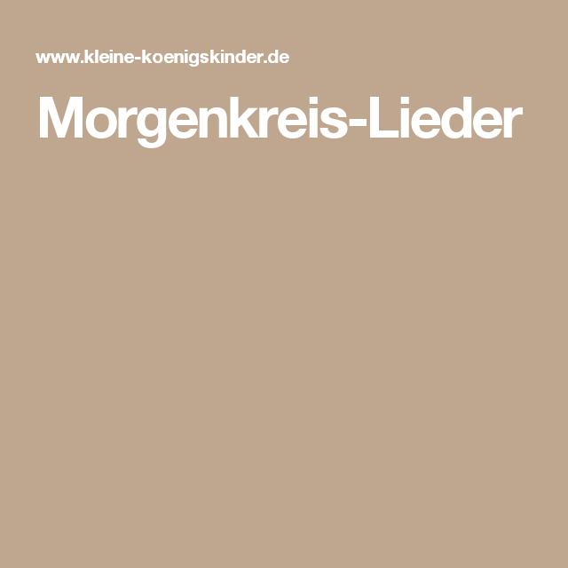 Morgenkreis-Lieder | Ideen für die Kita | Pinterest ...