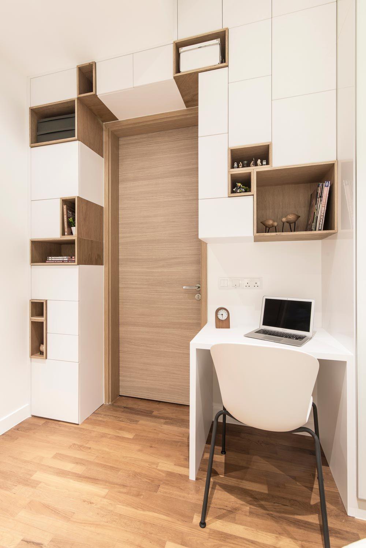 D Leedon Minimalism Condominium Interior Design Study Corner