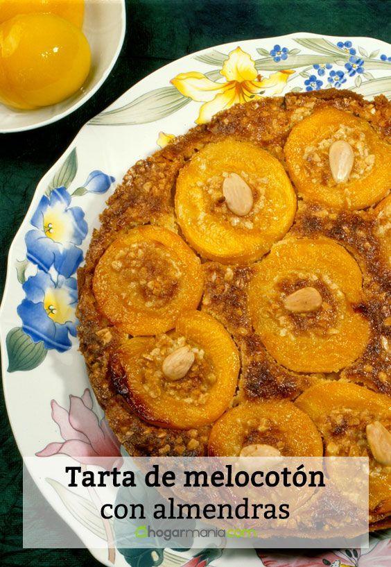Tarta De Melocotón Con Almendras Karlos Arguiñano Postres Con Frutas Almendras Tartas
