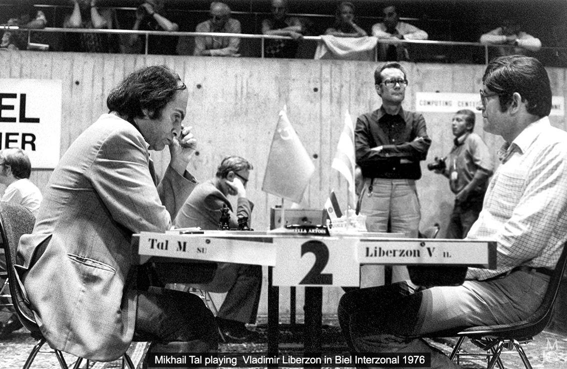 Mikhail Tal playing Vladimir Liberzon in Biel Interzonal 1976 | Чемпион