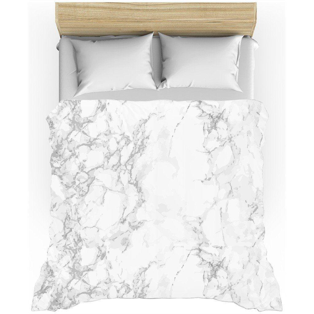 GREY + WHITE MARBLE LIGHTWEIGHT DUVET COVER White marble