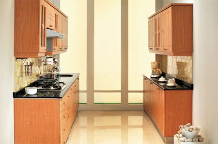 Are You Worried About Limited Kitchen Space? A Parallel Counter #Modular #Kitchen  Design