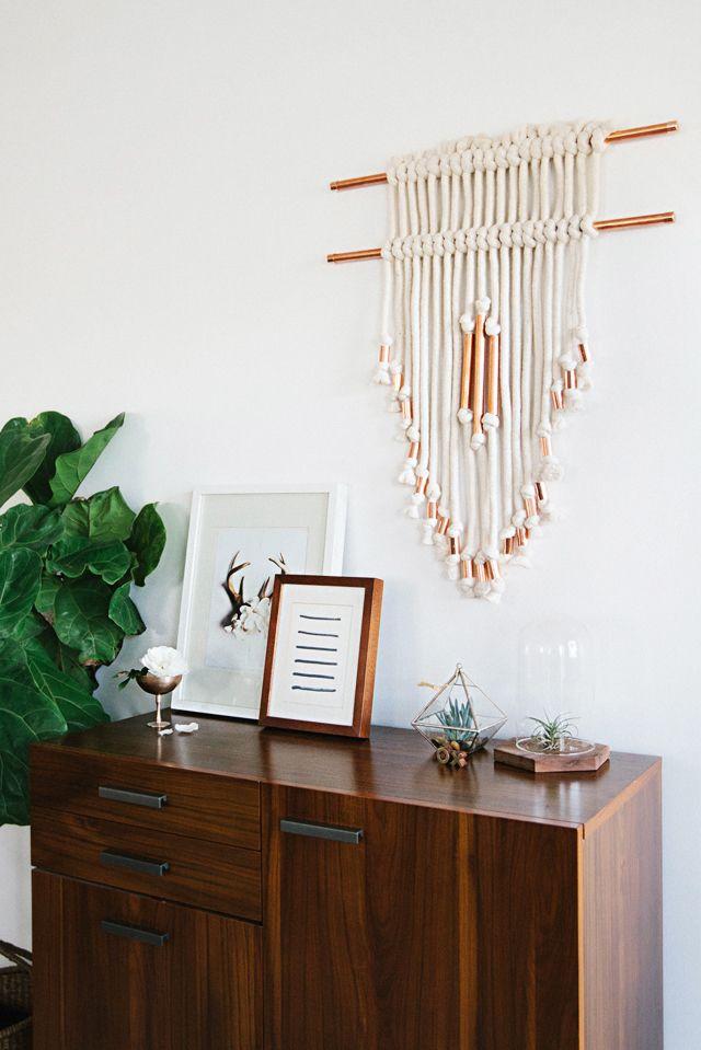 70 Kreative Wandgestaltung Ideen und Makramee Wandbehang Anleitung - wohnzimmer ideen wandgestaltung