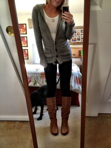 cute sweater+boots