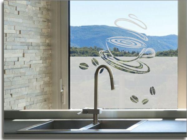 sichtschutzfolie-für-fenster-kaffee Fensterdeko Pinterest - folie für badezimmerfenster